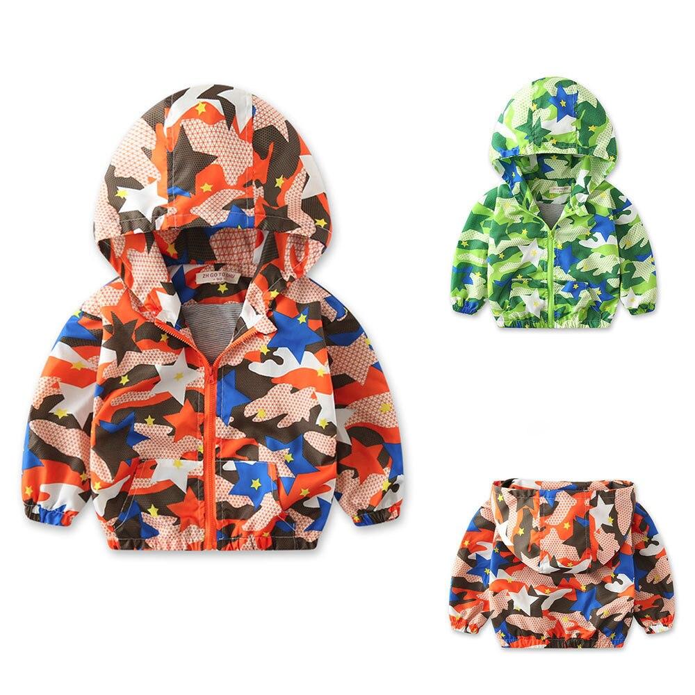 f58792d78cc9 Kids Coat Children Baby Coat Autumn Jacket Outerwear Camouflage Ho...