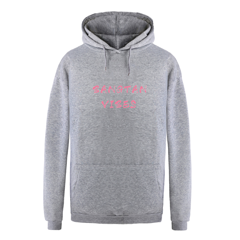 BTS Hooded Sweatshirts Women Bangtan Vibes Kpop Casual Hoodies Men Black Popular Korean Style Couples Fleece Harajuku Pullovers
