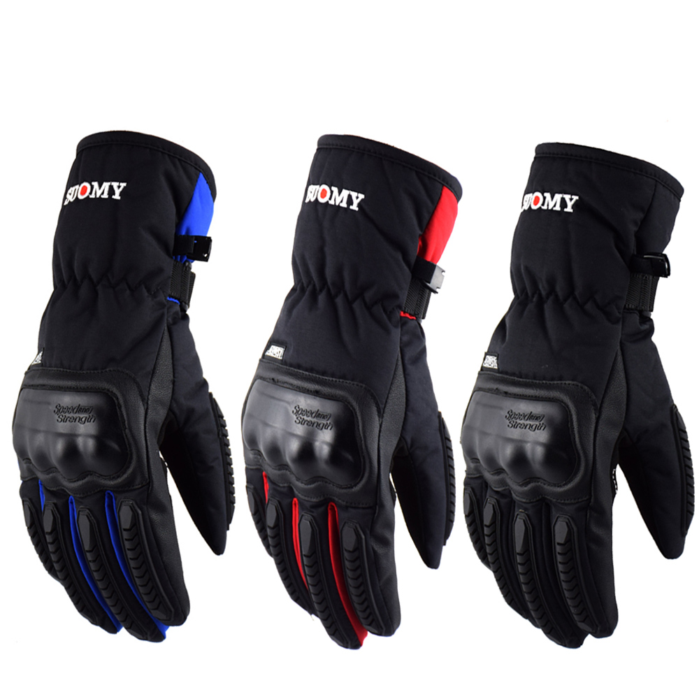 ff75eedda3c Suomy Free shipping Winter warm motorcycle gloves 100% Waterproof windproof Guantes  Moto Luvas Touch Screen
