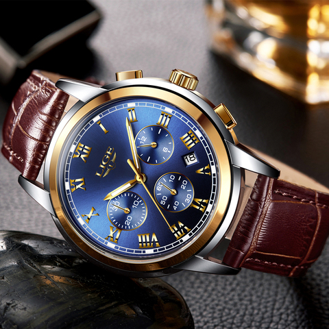 LIGE Mens Watch Top Brand Luxury Automatic Mechanical Watch Men Clock Tourbillon Waterproof Sport Watches Relogio Masculino gift Multan