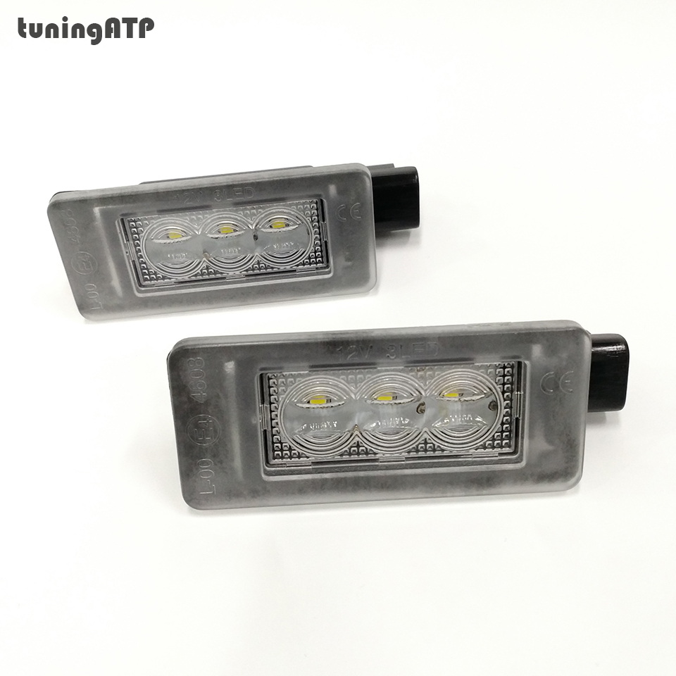 TuningATP LED Rear Number License Plate Light Lamp For Peugeot 308 II 2 MK2 3008 II 208 2008 207 CC
