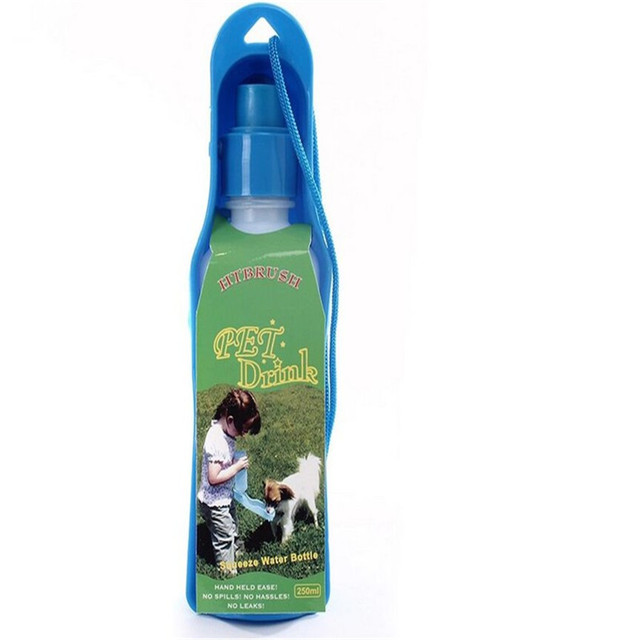 1pcsDog Travel Water Bottle Dispenser Foldable Plastic Dog Cat Drinking Water Feeder Portable Outdoor Pet Puppy Bowl 250ml 500ml 3