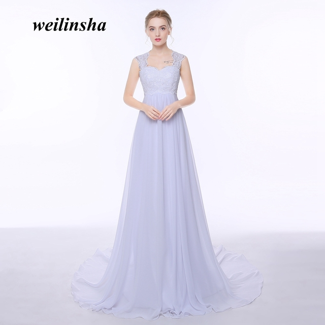 weilinsha Lace Appliques Beach Wedding Dresses 2018 Empire Waistline ...