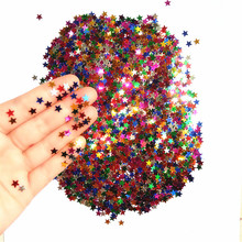 CRLEY 2000pcs Sparkle Star Glitter Confetti Multi Color Wedding Confetti Party Table Scatter Christmas Decoration Party Supply