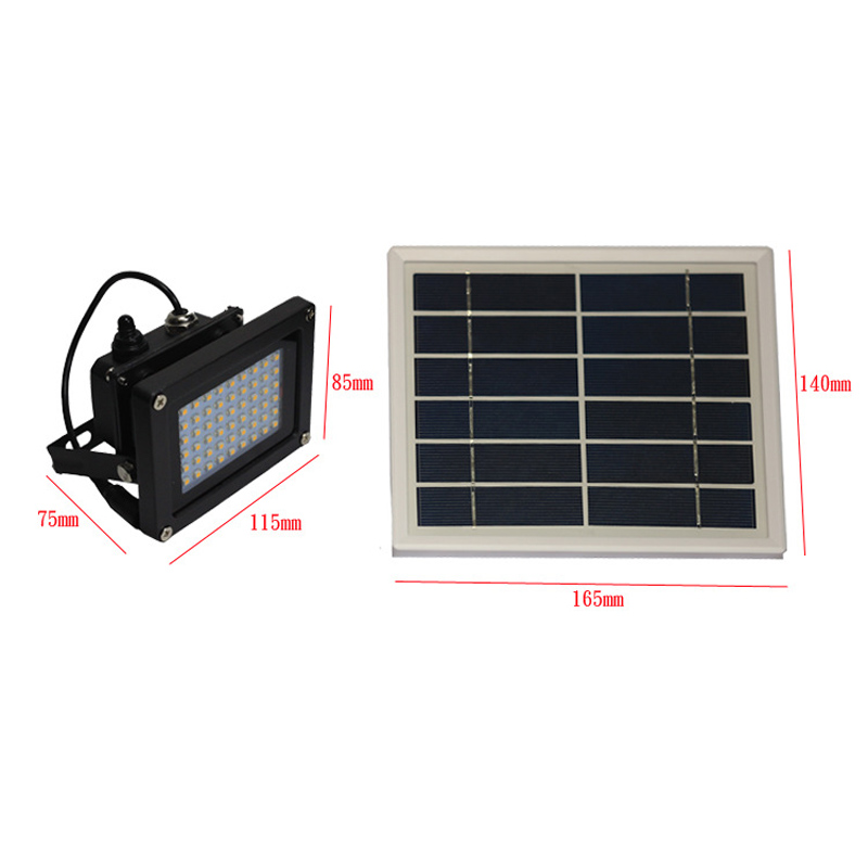 Solar Panel SMD 54 LED Light Sensor Floodlights Spot Lamp Outdoor Waterproof