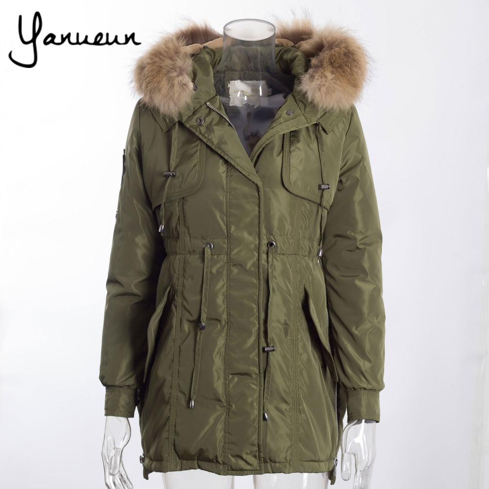 Colorful Apparel New 2016 Winter Coats Women Jackets Real Large Raccoon Fur Collar Thick Ladies ...