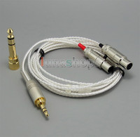 2m long 3.5mm + 6.5mm Male PCOCC + Silver Plated Cable Cord for Audeze LCD 3 LCD3 LCD 2 LCD2 LN004725