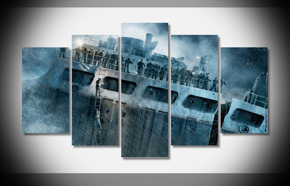 6856 The Finest Hours Movie Ship Wreck Storm WallpapersByte composter Framed Gallery wrap art print home wall decor wall
