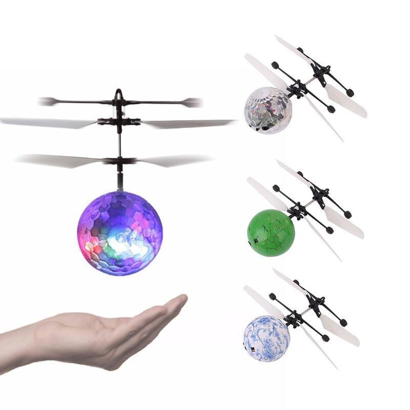 1 Stück LED Fliegende Kugel Leuchtenden Hand Induktion RC Heli Ball Bunte Flugzeuge Licht Mini Hubschrauber Lustige Gadgets Outdoor-spielzeug