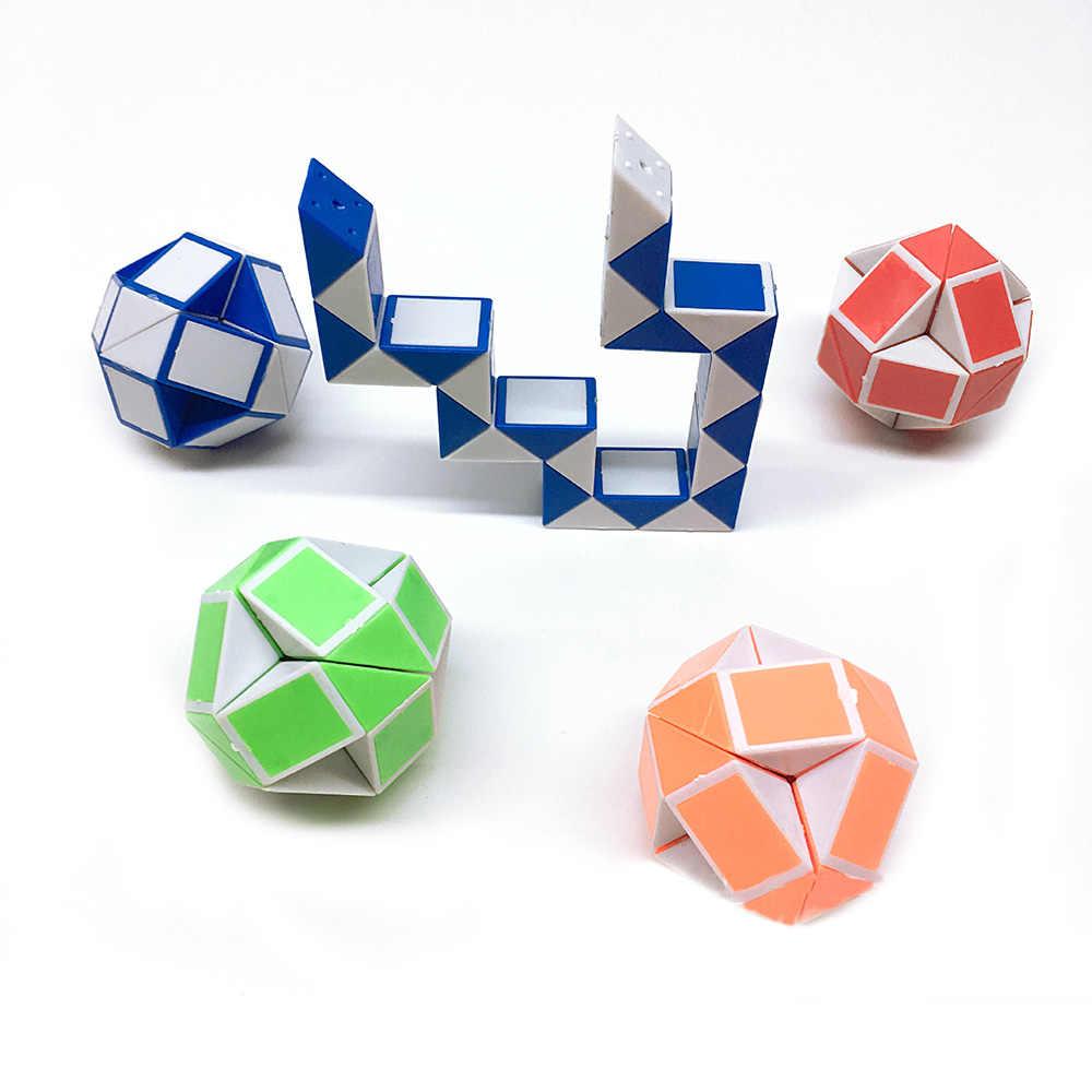 4 цвета мини-кубик змеи игрушка Магическая змея Фидж куб разнообразие Популярные твист трансформирующаяся детская Подарочная игрушка красный синий оранжевый зеленый
