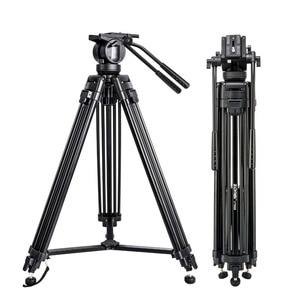 Image 2 - Zomei VT666 מקצועי מצלמה וידאו חצובה עם 360 תואר פנורמי נוזל ראש עבור DSLR למצלמות וידאו, DV, צילום