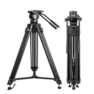 Image 2 - Zomei VT666 Professional Camera Video Tripod with 360 Degree Panoramic Fluid Head for DSLR Camcorder Video, DV, Photography