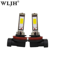 WLJH 2x 30W H8 H9 H11 LED Automobiles Car LED Fog Bulbs High Quality Cars Daytime