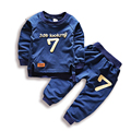 Brand Sunshine Kids Baby Boys and Girls Sweatshirts Clothing Sets with Letter Fashion Kids Clothes Outfits Sports Suit for Boys