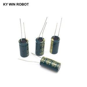 Image 3 - 10 pcs אלומיניום אלקטרוליטי קבלים 2200 uF 25 V 10*20mm frekuensi tinggi רדיאלי אלקטרוליטי kapasitor
