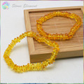 Genuine Natural Baltic Amber Chips / Tumbled Beads Bracelets 18cm Length