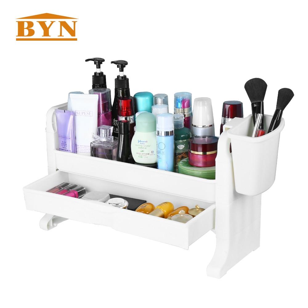 Multifunctional Desktop Kitchen Storage Rack Shelf Home Desk Sort Management Plastic Storage Shelving Organization BYN DQ1504