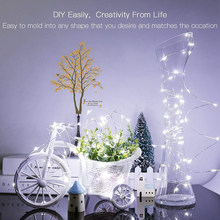 LED String lights Holiday lighting 1-10M Silver Wire night light For Garland Fairy Christmas Tree Wedding Party Decoration(China)