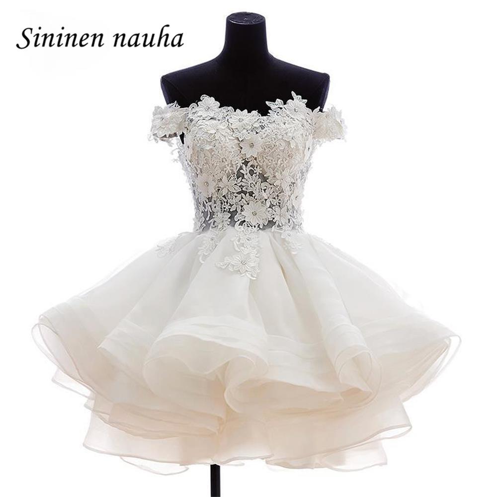 Short   Prom     Dress   Off The Shoulder Homecoming   Dresses   For Juniors Beaded Appliques Ball Gown Party Cocktail Vestidos De Festa 11
