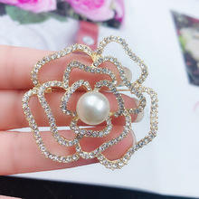 Hollowed-out rose coat suit ladies brooch accessories, fashion jewelry accessories wholesale,BE0523001