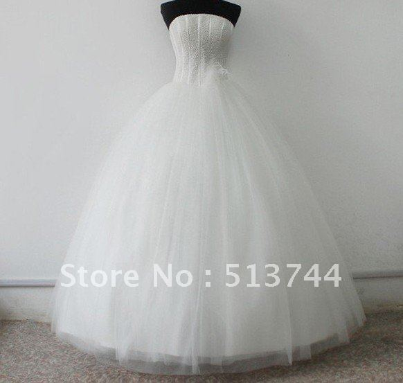 Free Shipping Gorgeous Beaded Embroidery See Layout    Wedding Dress   Custom Any Color/Size