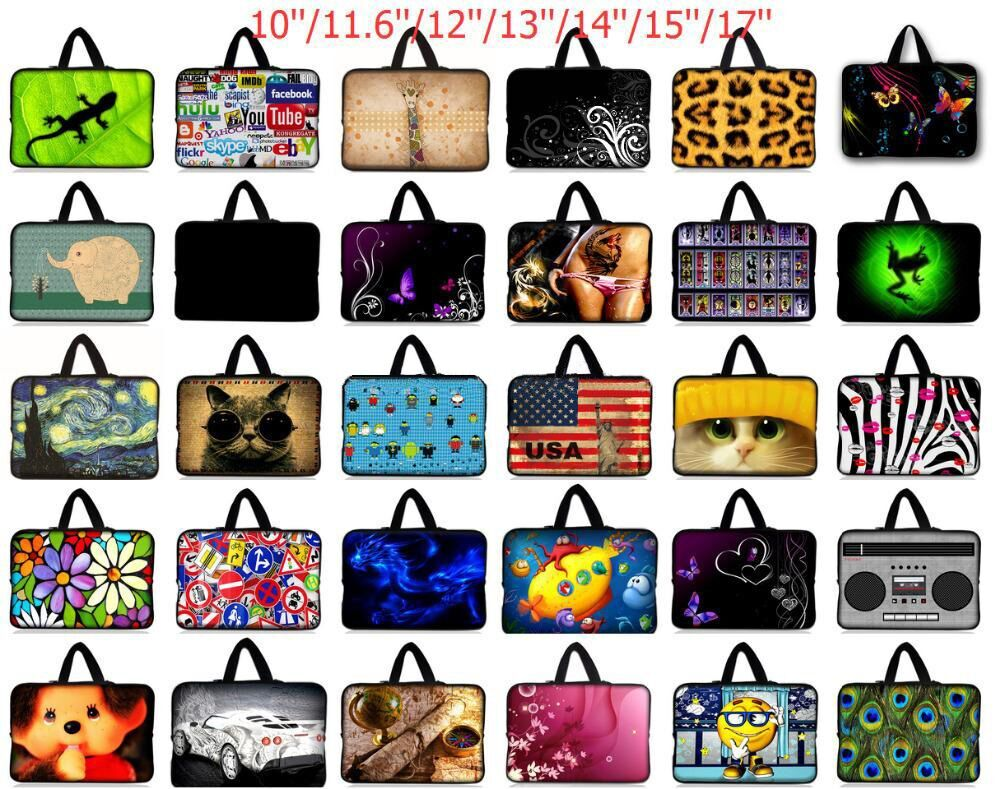 7.9 10 13 13.3 14.4 15.4 15.6 17.3 inch Notebook Laptop Sleeve Bag Case PC Handbag For Macbook Air/Pro/Retina For Dell Asus Acer