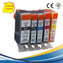 5 x PGI225 PGI 225 XL CLI-226 PGI-225 PGI-225XL Ink Cartridges For Canon Pixma MG5220RFB MG5320 MG6110 MG6120 Inkjet Printer