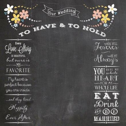 HUAYI Bridal Expo Wedding Photo Backdrop Chalkboard Corporate Use Photobooth