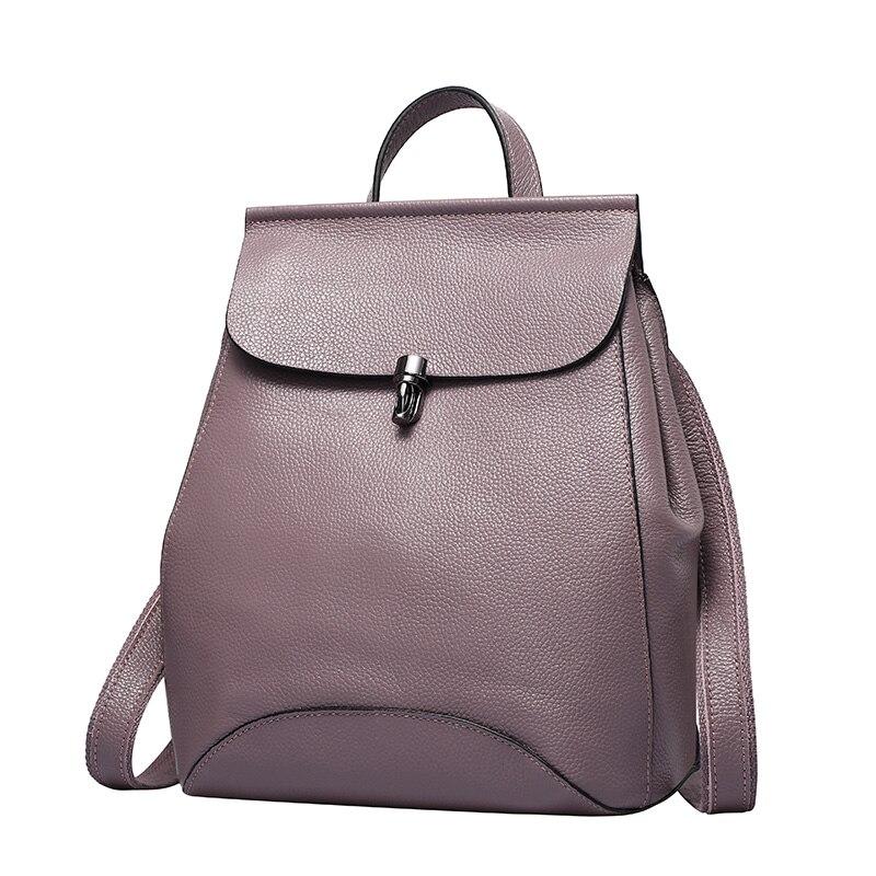 Zency мягкая натуральная телячья кожа женщины рюкзак природный натуральная кожа дамы рюкзаки кожа женщина сумки на ремне