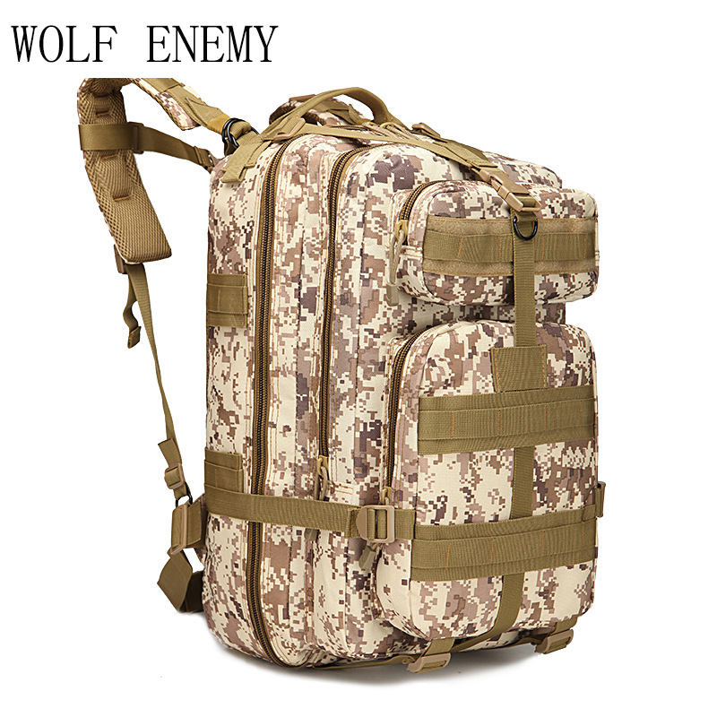 45L 3P Backpack Molle Outdoor Tactical Backpacks 1000D Nylon Travel Climbing Bags Outdoor Sport Hiking Camping Army Bag Military