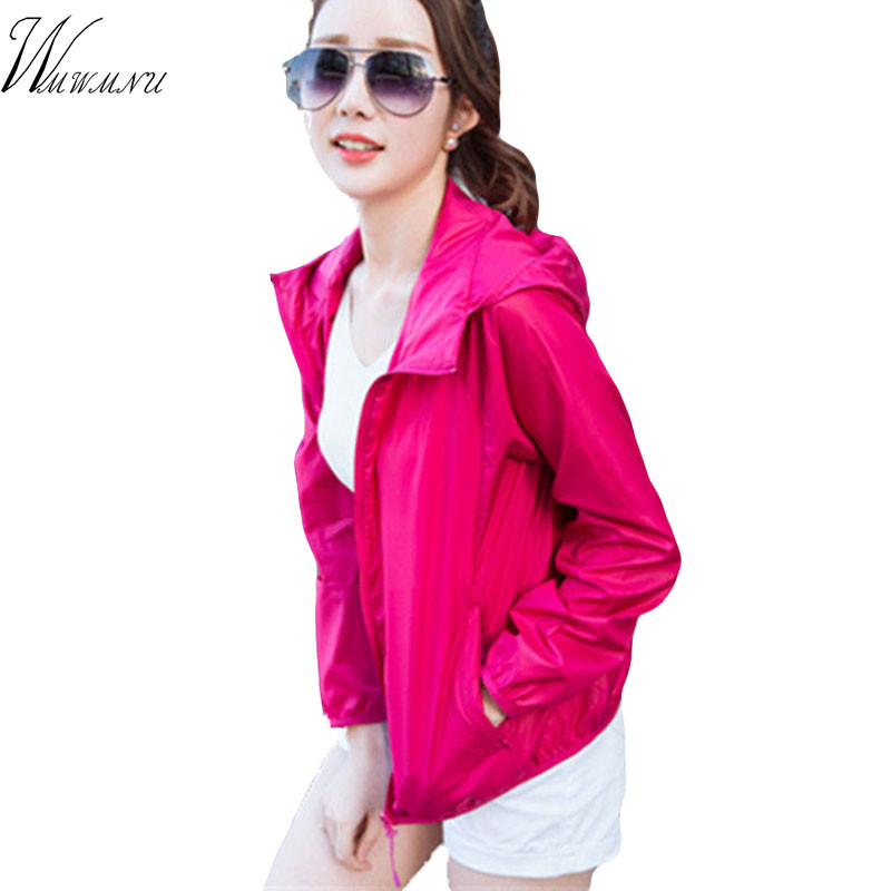 Woman Man New Plus size coat Solid color   basic     jacket   Summer sun UV protection outwear Outdoor sports running lightweight   jacket