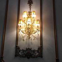 מסדרון מותג זרוע זהב קריסטל מנורת קיר מנורות קיר מלון סלון תאורה עכשווי אור Led נרות מנורות Arandela