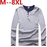 10XL 9XL 8XL 7XL 6XL 5XL Spring Fashion Brand V Neck Slim Fit Long Sleeve T