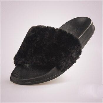 Fluffy slippers summer fashion outside women s shoes wear bottom bottom large flat bottomed out women.jpg 350x350