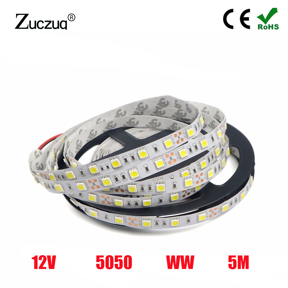 12 V 1M Strip Led Light Tape SMD 5050 Warm White Waterproof 60LED/M 12V Led Light Strip Tape Lamp Diode Ribbon Fleible For Party12 V 1M Strip Led Light Tape SMD 5050 Warm White Waterproof 60LED/M 12V Led Light Strip Tape Lamp Diode Ribbon Fleible For Party