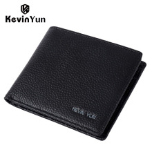 KEVIN YUN Designer Brand Men Wallet Short Genuine Leather Slim Pocket Pusre
