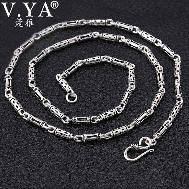 88ab8df94c80 S925 collar de plata esterlina de la joyería de los hombres 925 Thai Collar de  plata