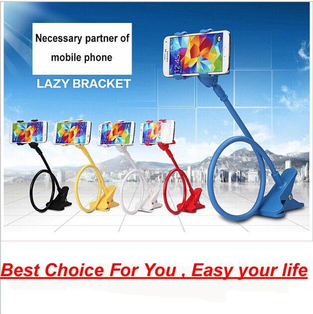 De dois 80 cm flexível extensível telefone Moblie Universal cama mesa suporte preguiçoso Moblie para Iphone Samsung HTC