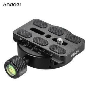 Image 1 - Andoer KZ 40 universal tripé cabeça disco braçadeira adaptador com/PU 70 placa de liberação rápida compatível para arca swiss liga alumínio