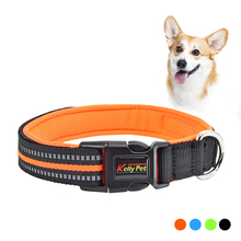 Hot Sale Dog Collar Adjustable Nylon Reflective Pet Collars Customized Necklace Anti-lost Tag Pets Acessorios