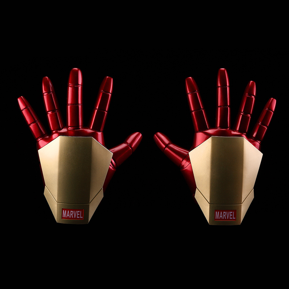 Huong Movie Figure 20 CM 2PCS/SET Iron Man Gloves with LED Light PVC Action Figures Collectible Model Toy стоимость
