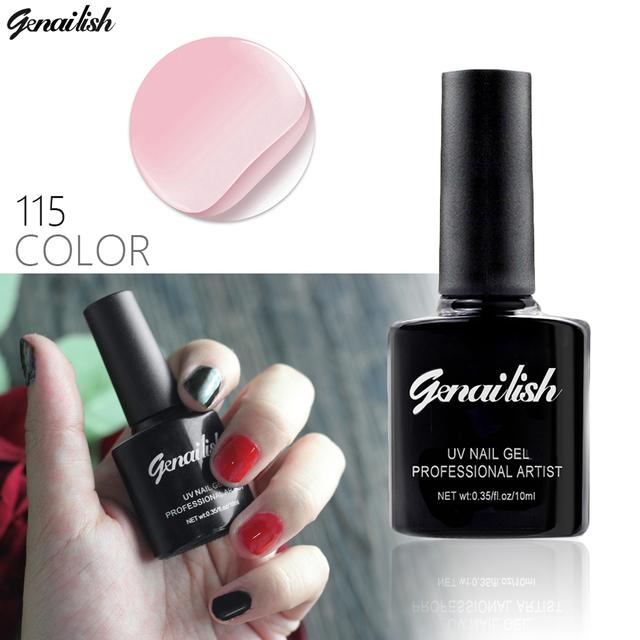 115 Colors Gel Nail Polish UV Gel Polish Long-lasting Soak-off LED UV Gel Color Hot Nail Gel 10ml/Pcs Nail Art Tools-NG1