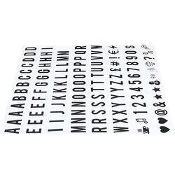 104 pcs Cinematográfico Lightbox Sinais Letras & Números de Substituição preto para A4 Sinal Caixa De Luz Up Carta Placa da Mensagem 65.4x35mm (LE