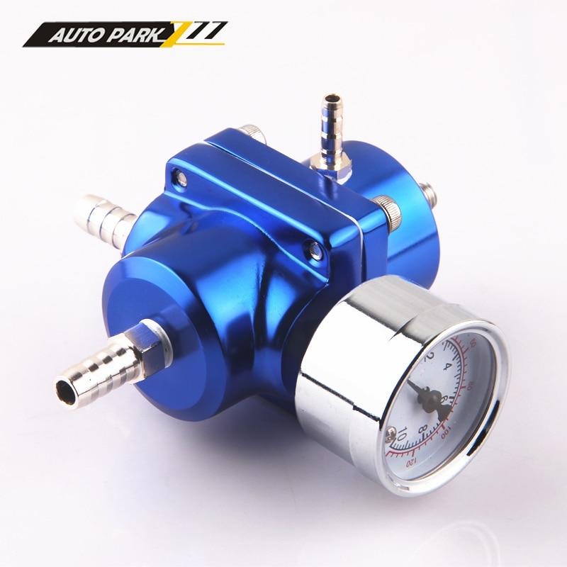 Universal Adjustable Fuel Pressure Regulator 30-140 Psi Fpr Meter Fuel Hose Kit