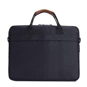 Image 5 - KALIDI wodoodporna torba na ramię 13.3 14 15.6 17.3 cala teczka torba biznesowa mężczyźni kobiety torba płótno Vintage torebka