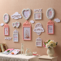 Милые свадебные фото рамка на стене украшения фоторамка набор для Гостиная Porta Retrato Moldura деревянные рамки для фотографий