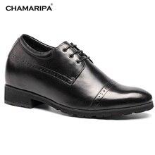 CHAMARIPA Elevator Shoes Men Increase Height 10cm/3.94 inch Casual Taller Fashion Gentlemen Shoe Hidden High Heel H62046K011D