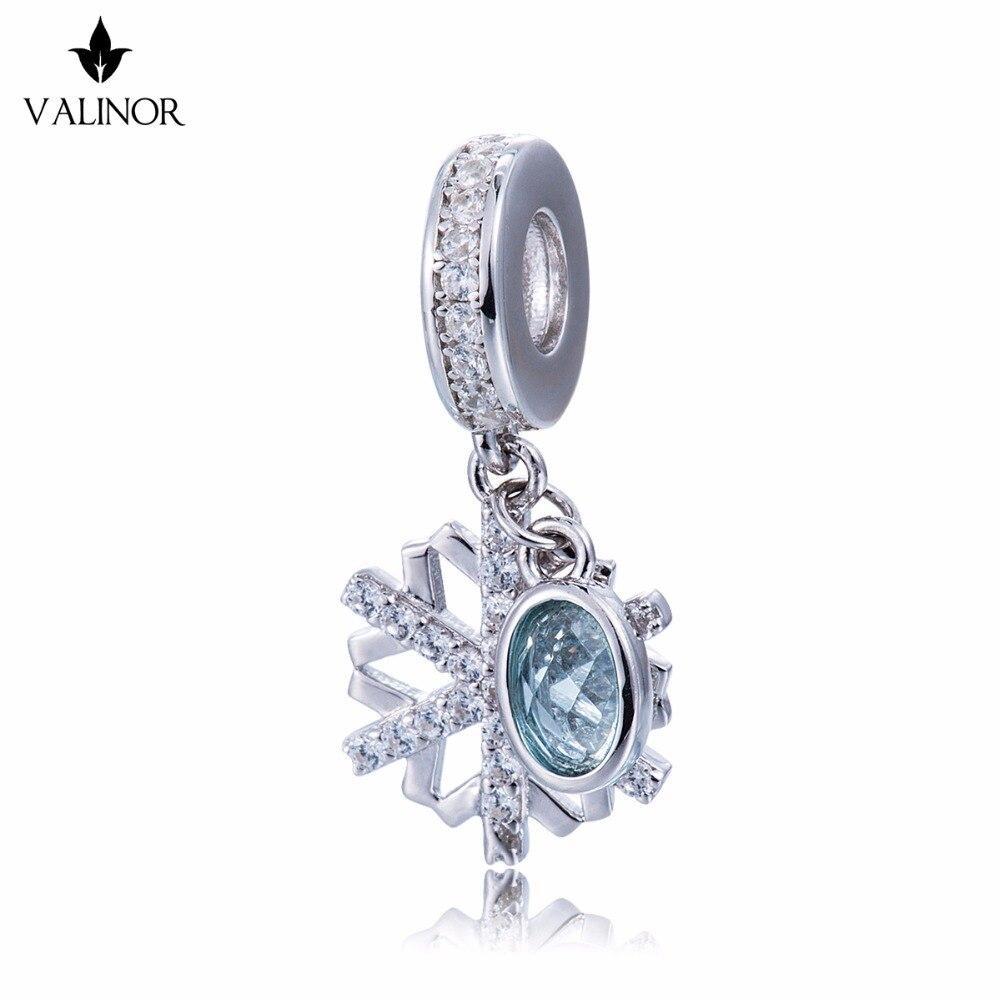 Snow Gems Charm Beads Fit Original Bracelet Necklace Authentic Jewelry DDBJ157