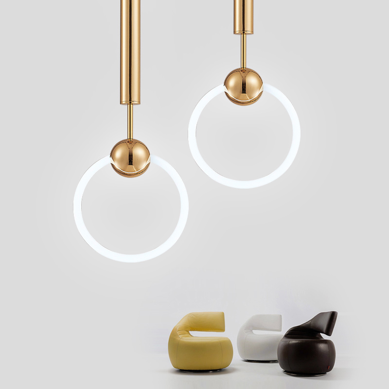 Nordic Metal Pendant Light Fashion LED Lamp Restaurant lustre Balcony Bedroom Shop Dress Bar Hanging
