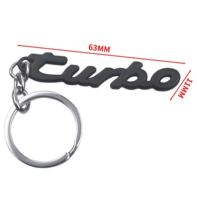 Metal  Car Keychain Keyring Key Chain Auto Key Ring Holder Keyfob For Turbo BMW Audi Volkswagen Ford Nissan Chevrolet Opel